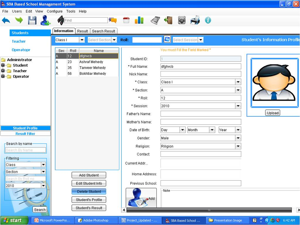 school student database software