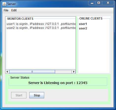chat application in java hasib server monitor